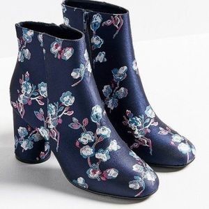 Urban Outfitters Juliet Floral Ankle Boot